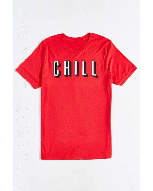 Urban Outfitters   Red And Chill Tee for Men   Lyst