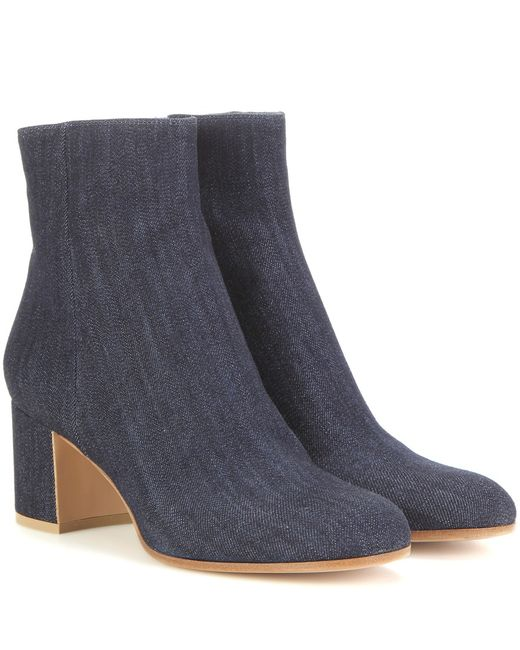 gianvito margaux denim ankle boots in blue save 40