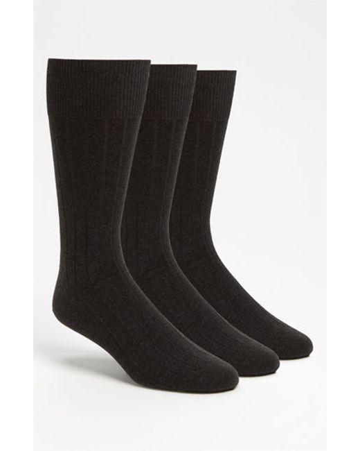 Calvin Klein | Gray 3-pack Wide Rib Socks, Grey for Men | Lyst