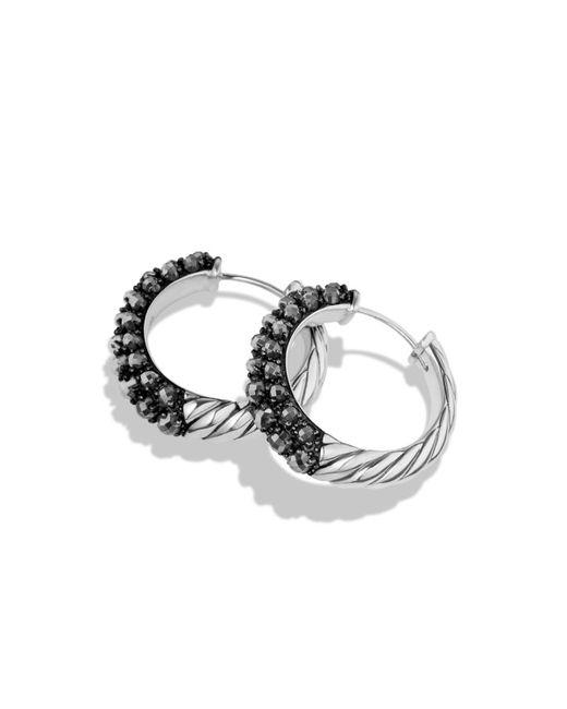 David Yurman | Metallic Osetra Hoop Earrings With Hematine | Lyst