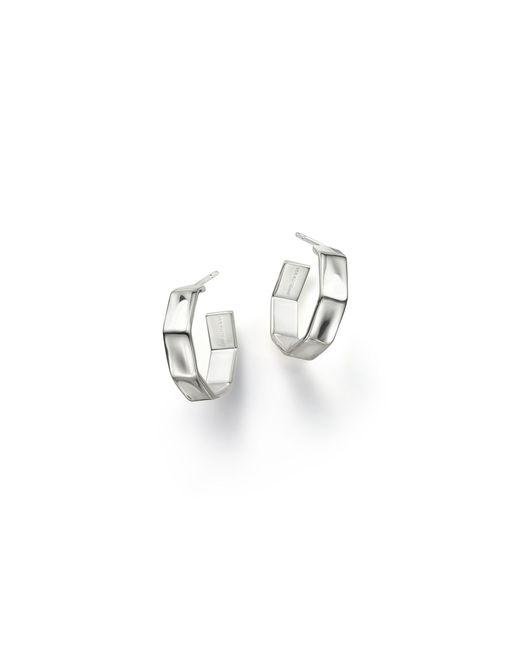 Ippolita | Metallic Sterling Silver Glamazon Sculpted Octagonal Hoop Earrings | Lyst