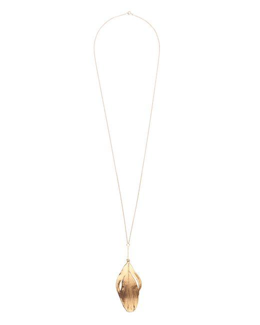 Aurelie Bidermann   Metallic Swan-feather Yellow-gold Necklace   Lyst