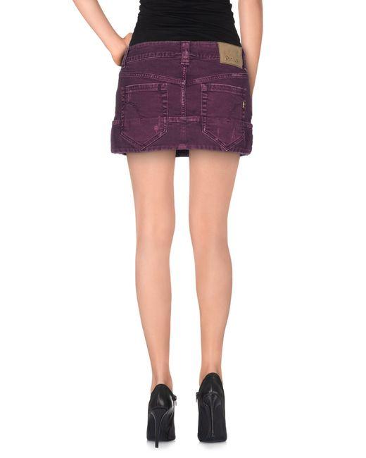dondup denim skirt in purple save 16 lyst