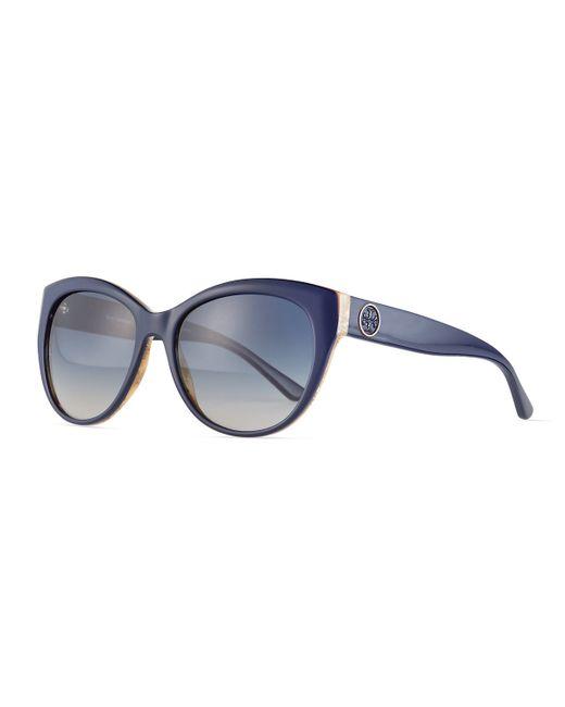 Tory Burch | Blue Plastic Cat-eye Sunglasses | Lyst