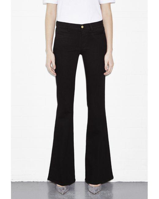 M.i.h Jeans | Black Marrakesh Stretchvelvet Midrise Flared Jeans | Lyst