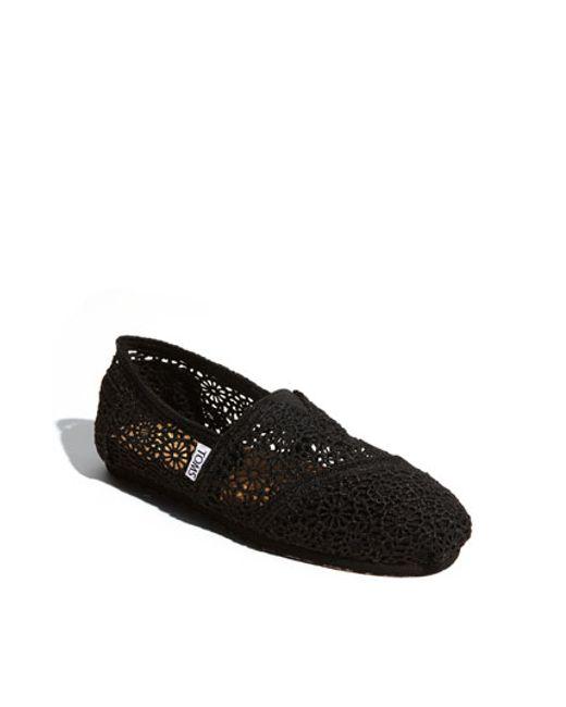 TOMS | Black 'classic' Crochet Slip-on | Lyst