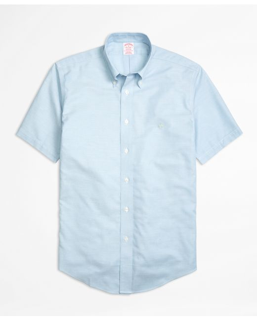 Brooks brothers non iron madison fit short sleeve oxford for Brooks brothers sports shirts
