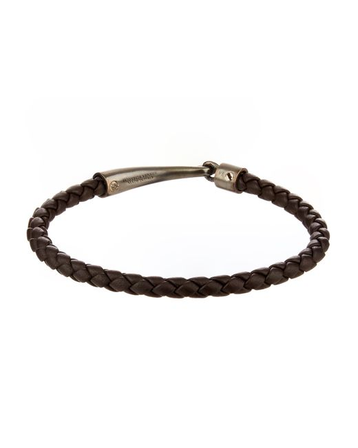 Bottega Veneta | Brown Intrecciato Leather Bracelet for Men | Lyst