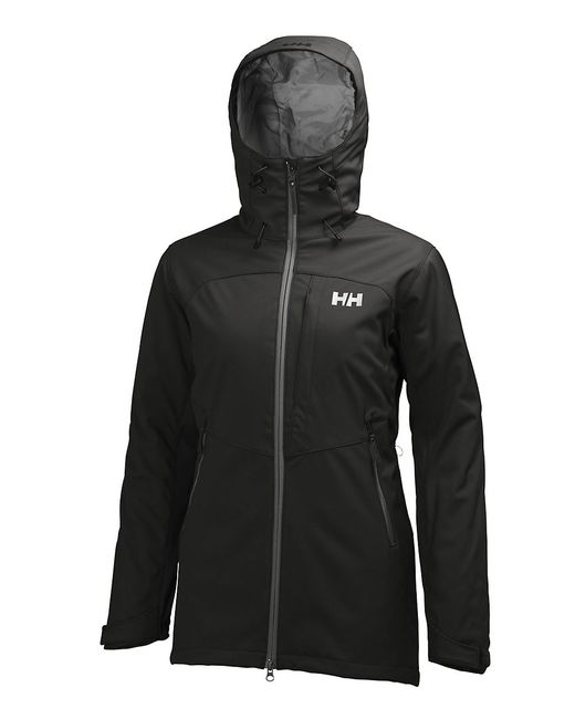 helly hansen paramount insulated softshell jacket in black save 25 lyst. Black Bedroom Furniture Sets. Home Design Ideas