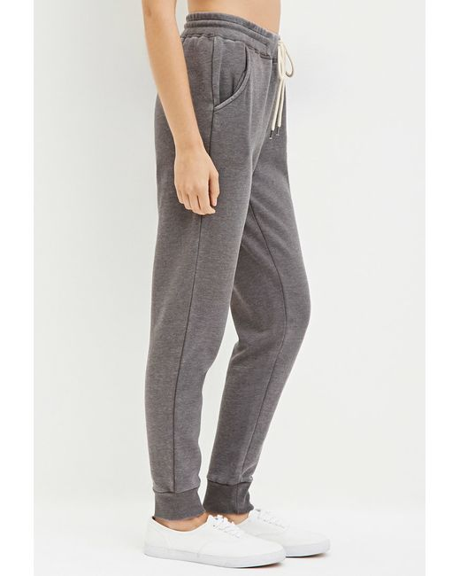 Forever 21 | Gray Heathered Drawstring Sweatpants | Lyst