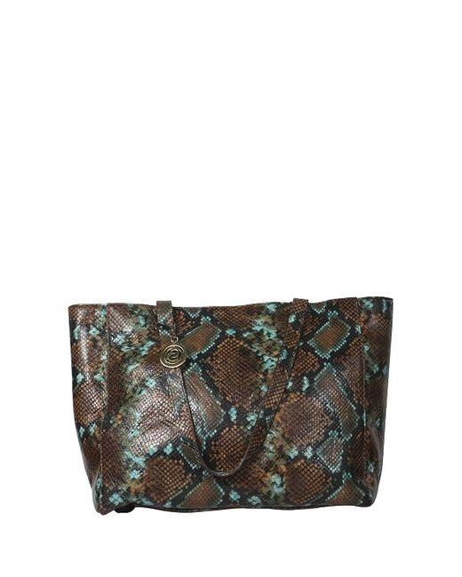 Cashhimi Little Rock Leather Shoulder Bag in Black (brown ...