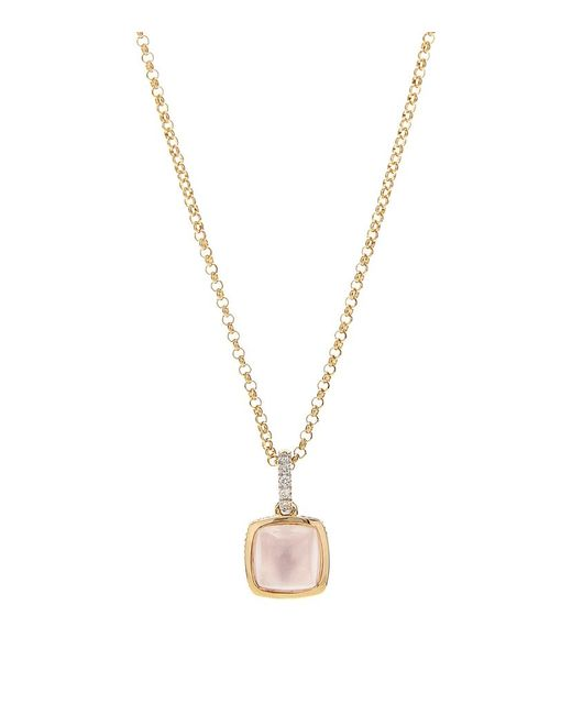 Links of London | Pink Luna Gems Rose Quartz Necklace | Lyst