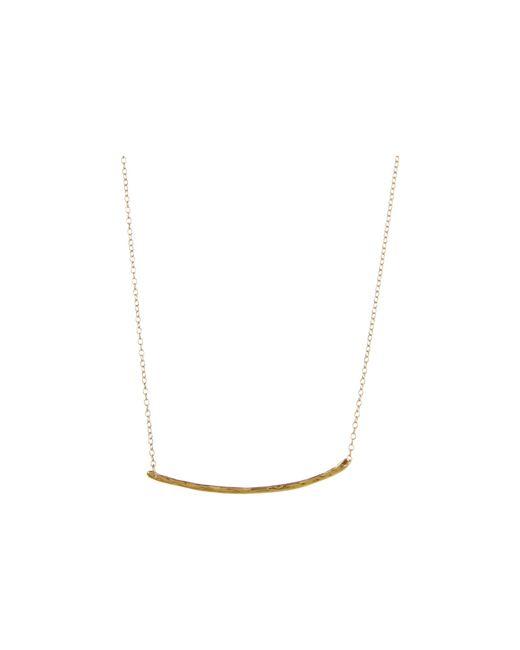 Gorjana   Metallic Cara Plate Necklace - Gold   Lyst