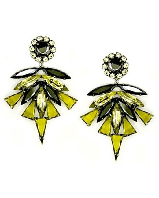 Nicole Romano | Yellow Serenata Earrings | Lyst