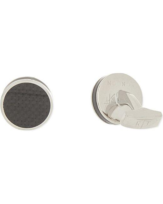 Tateossian   Metallic Round Cufflinks, Men's, Black for Men   Lyst