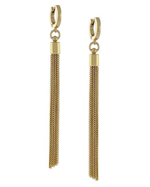 Vince Camuto   Metallic 'haute Tassels' Tassel Hoop Earrings   Lyst
