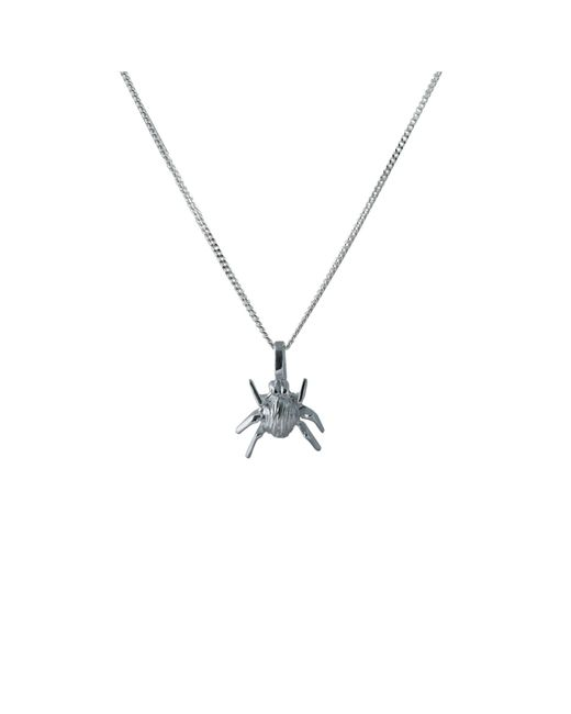 Edge Only | Metallic Striped Bug Pendant Silver | Lyst