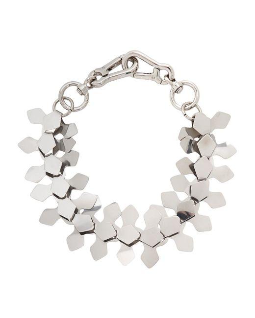 Moxham   Metallic Kline Silver Tone Laser-cut Necklace   Lyst