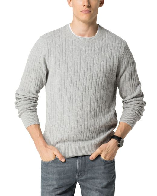 Tommy Hilfiger | Gray Cable Jumper for Men | Lyst