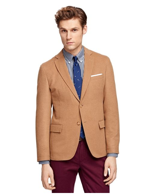 Brooks Brothers Wool And Camel Hair Sport Coat In Natural