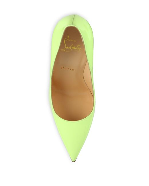 Christian louboutin So Kate Patent Leather Pumps in Green (Yellow ...