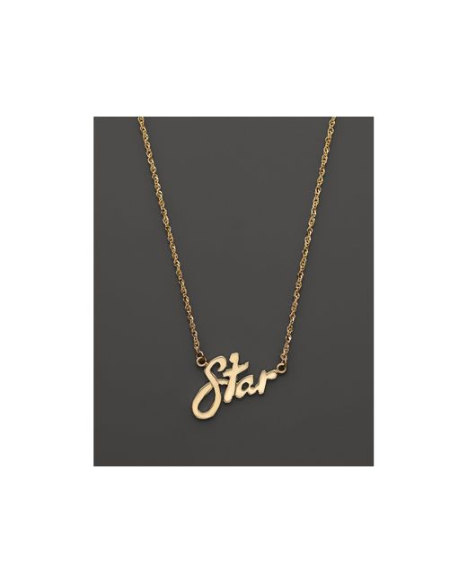 "Lana Jewelry | 14k Yellow Gold Mini Star Signature Necklace, 16"" | Lyst"