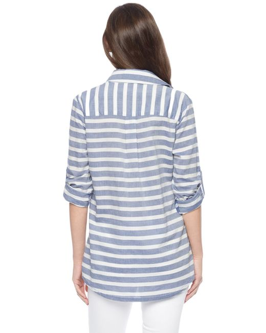 Splendid   Blue Capri Rugby Shirt   Lyst