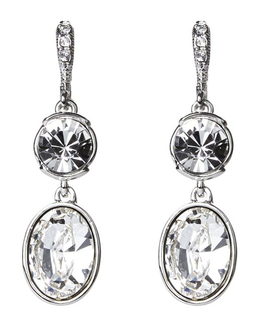 Givenchy | Metallic Silver-Tone Drop Earrings | Lyst