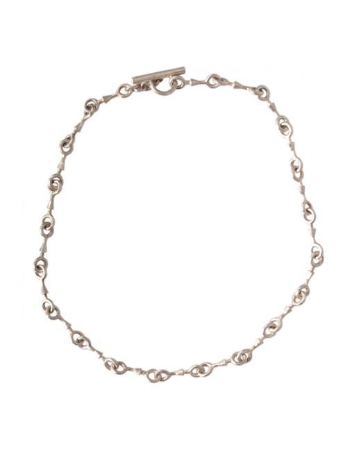 Rick Owens | Metallic Straight Rib Link Necklace Silver | Lyst