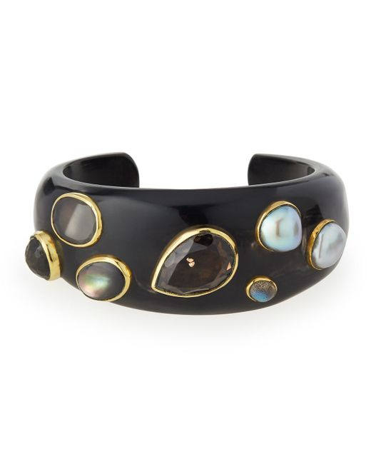 Ashley Pittman | Black Sifa Dark Horn Cuff Bracelet | Lyst