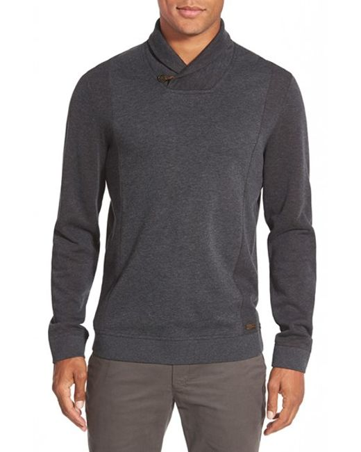 Ted Baker   Gray 'vernila' Shawl Neck Sweatshirt for Men   Lyst