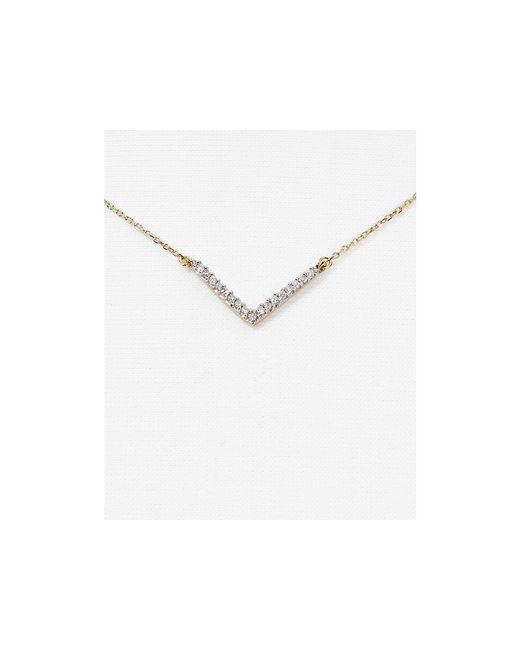 Adina Reyter | Metallic Tiny Pave V Necklace | Lyst
