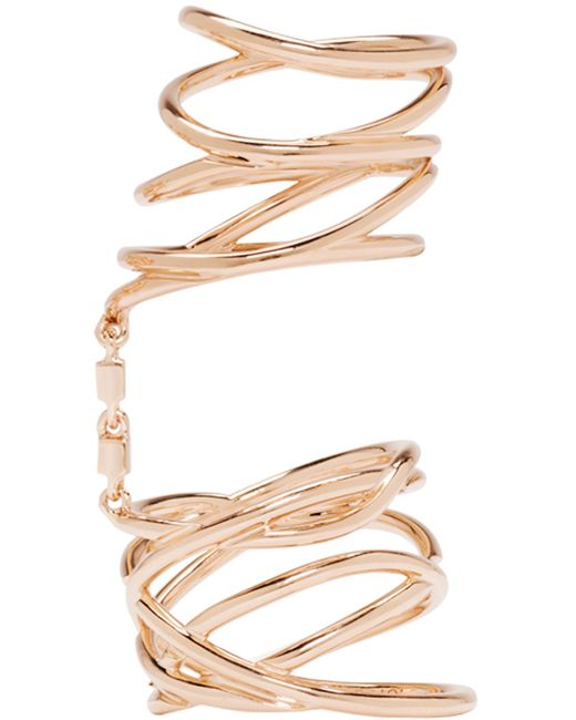 Repossi   Metallic Rose Gold Twin Ring   Lyst