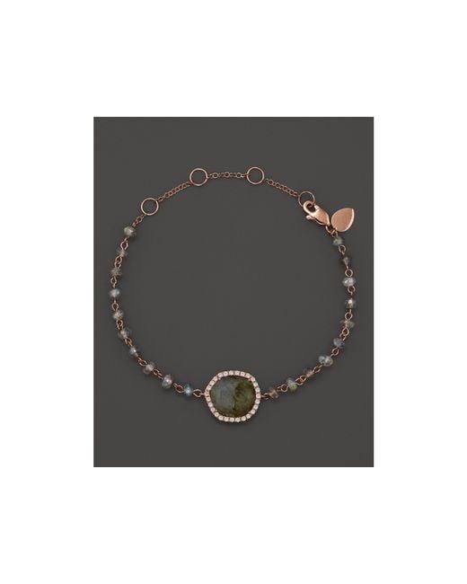 Meira T | Pink 14k Rose Gold Labradorite Bead Bracelet | Lyst