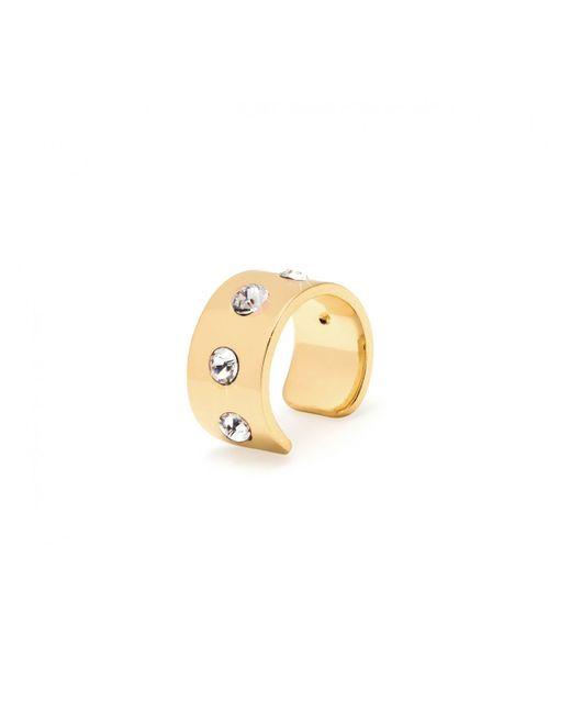 Maria Francesca Pepe | Metallic Thin Stone Encrusted Ear Cuff Gold | Lyst