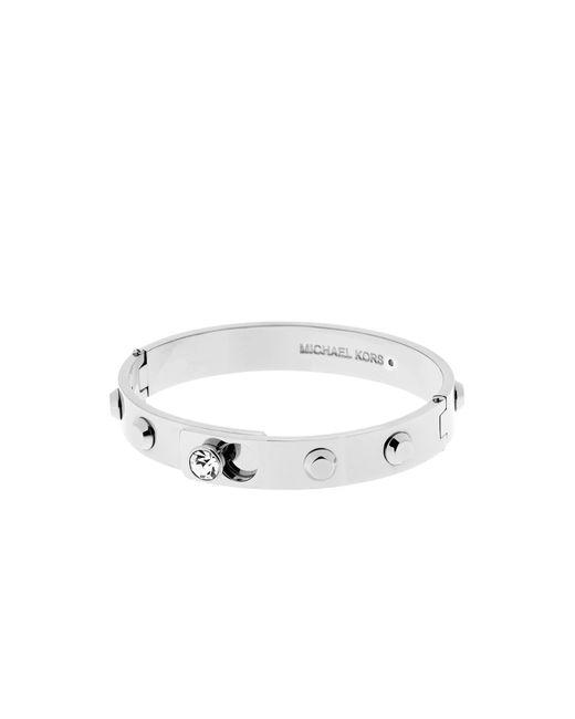 Michael Kors | Metallic Astor Silver-tone Bangle | Lyst