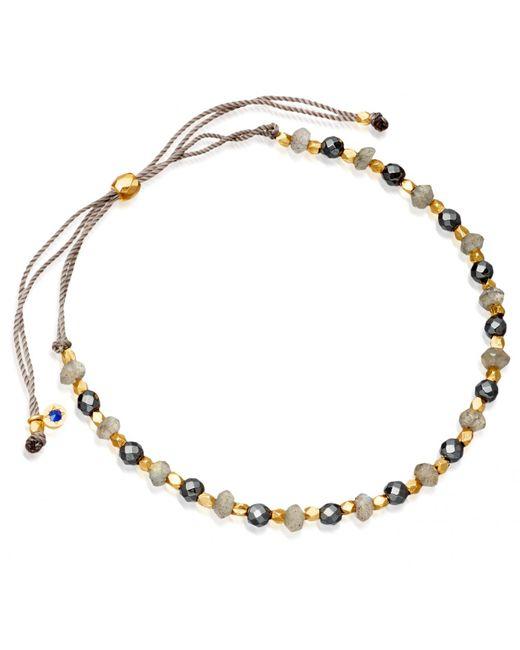 Astley Clarke | Metallic 18ct Gold Grey Cord Bracelet | Lyst