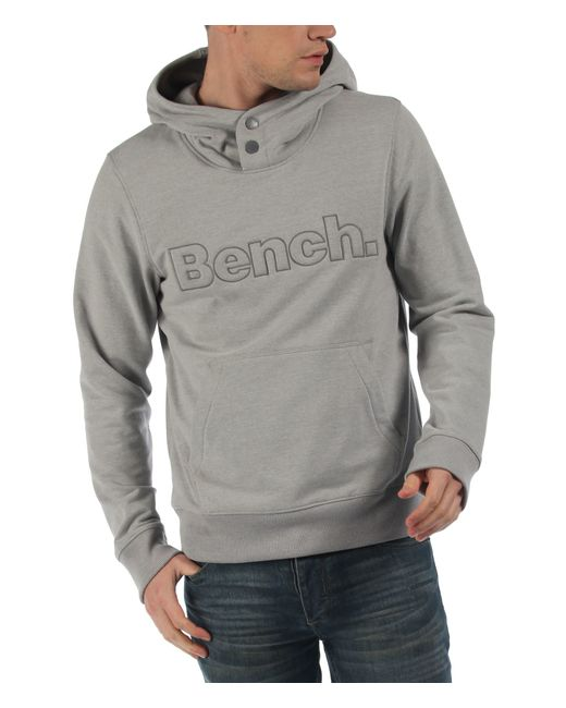 Bench Pop Hoodie In Gray For Men Grey Marl Save 50 Lyst