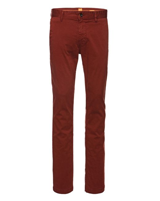 BOSS Orange | Natural Slim-fit Chinos In Stretch Cotton: 'schino-slim1-d' for Men | Lyst