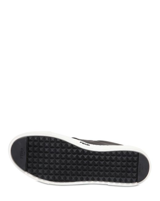 Fendi   Multicolor 20mm Monster Leather Slip-on Sneakers   Lyst