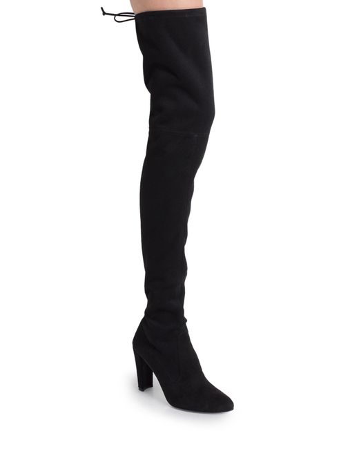 Stuart Weitzman | Black Alllegs Stretch-Suede Over-The-Knee Boots | Lyst
