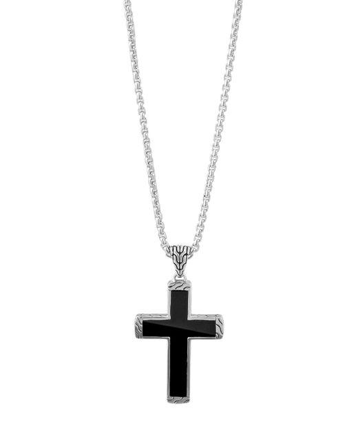 John Hardy | Men's Classic Chain Black Jade Cross Pendant Necklace for Men | Lyst