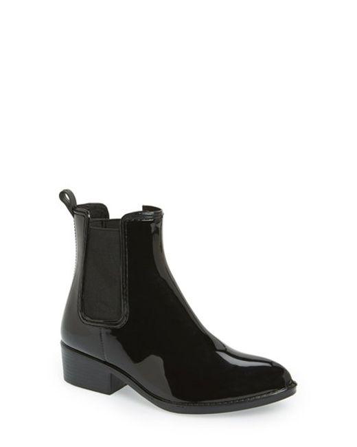 Jeffrey Campbell | Black 'stormy' Rain Boot | Lyst