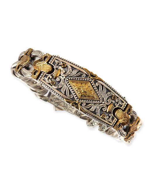 Konstantino | Metallic Myrmidones Men's Filigree Link Id Bracelet for Men | Lyst