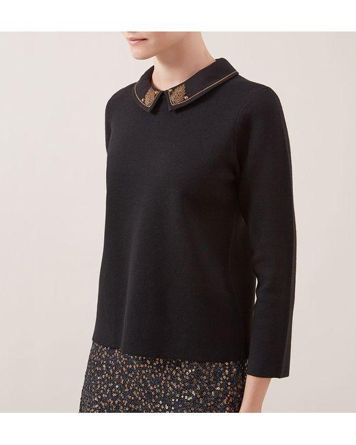 Hobbs | Black Court Sweater | Lyst