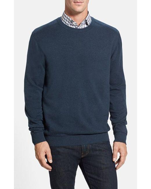 Cutter & Buck | Blue 'broadview' Crewneck Sweater for Men | Lyst