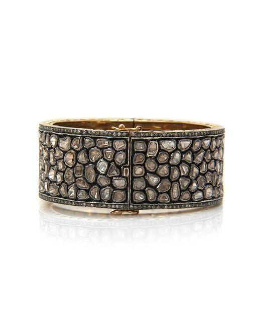 Sanjay Kasliwal | Metallic Diamond Cuff | Lyst