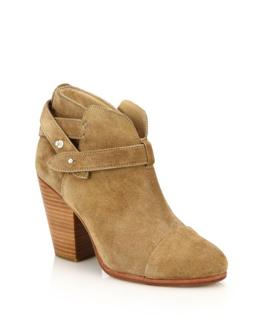 Rag & Bone | Natural Harrow Suede Ankle Boots | Lyst