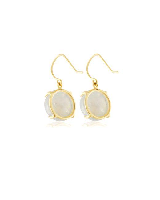 Emily & Ashley   Yellow Rainbow Moonstone Drop Earrings   Lyst