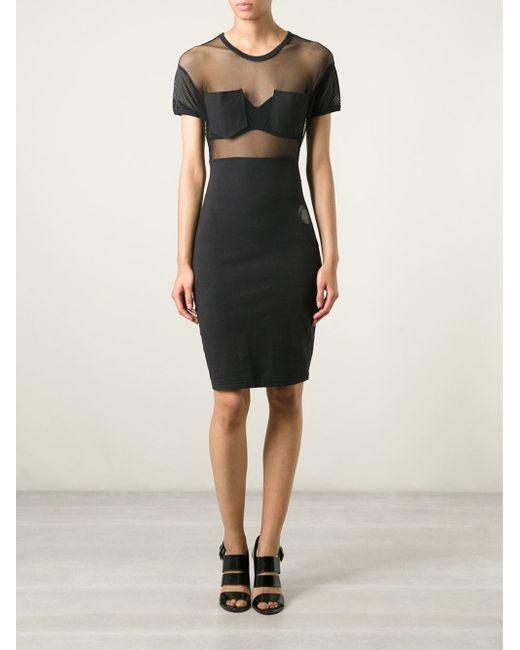 Jean Paul Gaultier Junior Gaultier Sheer Dress In Black